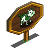 Green Patch Cow Mastery Sign-icon