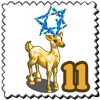 Happy Holiday Deer Stamp-icon