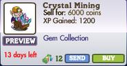 Crystal Mining Gnome Market Info (June 2012)