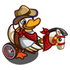 Duck Playing Cowboy-icon