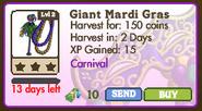 Giant Mardi Gras Tree Market Info