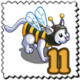 Buzzy Bee Cat Stamp-icon