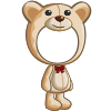 Cream Teddy Bear Costume-icon