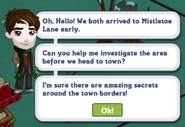 Mistletoe Lane Chapter 1 Quest Notification