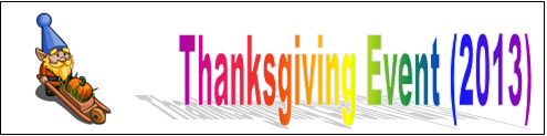 Thanksgiving Event (2013) Event Banner