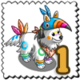 Toucan Disguised Dog Stamp-icon