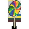 Deco lollipop round-icon