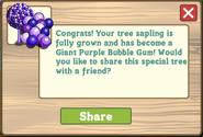 Giant Purple Bubble Gum Tree Message