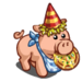 Pizza Party Pig-icon