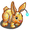 Aqua Stripes Rabbit-icon