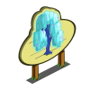 Fluorescent Willow Tree Mastery Sign-icon