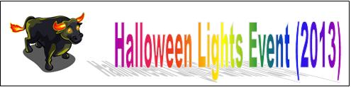 Halloween Lights Event (2013) Event Banner