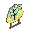 Hanging Snowflake Tree Mastery Sign-icon