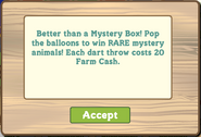 Mystery Game 2nd Pop Up Notice