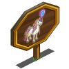 4th Birthday Bedazzled Horse Mastery Sign-icon