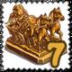 Warrior of Pompeii Statue Stamp-icon