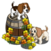 Puppies Smelling Poppies-icon