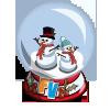 Snowman Globe-icon
