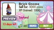 Brick Gnome Market Info (September 2012)