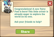 Fairy foal message