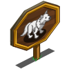 Giant White Wolf Mastery Sign-icon