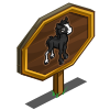 Black Quarter Pony Foal Mastery Sign-icon