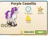 Purple Camellia Unicorn