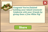 Island Livestock Finished Share Reward