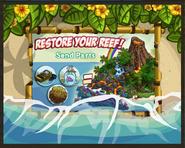 Volcano Reef Restore Travel Screen