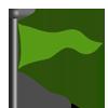 Green flag-icon
