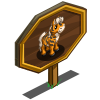 Tiger Stripe Mini Horse Mastery Sign-icon