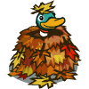Duck in Leaves-icon