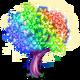 Prism Snowflake Tree-icon