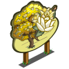 Yellow Magnolia Tree Mastery Sign-icon
