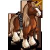 Chestnut Gypsy Unicorn-icon