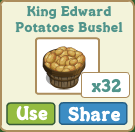 King Edward Potatoes Bushel