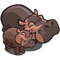 Hippo and Hippo Baby-icon