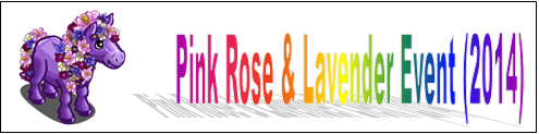 Pink Rose and Lavender Event (2014) Event Banner