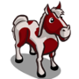 Red Pinto Horse-icon