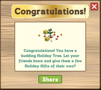 Holiday Tree 2011 Congratulations Message