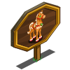 Gingerbread Horse Mastery Sign-icon