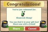 Redeem Shamrock Sheep