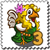 Aphrodite Chicken Stamp-icon