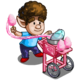 Awesome Cotton Candy Man-icon