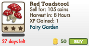 Red Toadstool Market Info