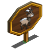 Snowy Alpine Ibex Mastery Sign-icon