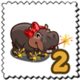 Hotfoot Hippo Stamp-icon