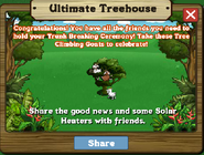 Ultimate Treehouse Stage 3 Completed Message