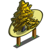 Golden Larch Tree Mastery Sign-icon