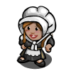 Pilgrim Girl Gnome-icon